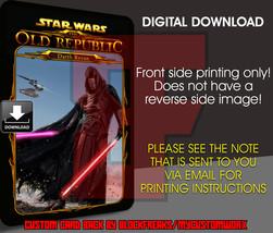 Custom Star Wars Darth Revan Digital Download Card Back V3 - $3.75