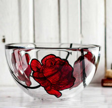 Kosta Boda Glass Tattoo Crystal Bowl Made Sweden NEW Gift Box - $217.80