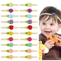 Basumee 20pcs Adjustable Baby Headband with Felt Flower, Nylon Hairbands... - $13.89