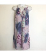 skies are blue 92457TJ pink floral spaghetti strap sweetheart dress size S  - $18.80