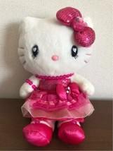 Hello Kitty Plush Doll Pink Sequins Dress USJ 2012 Sanrio Japan Free Shi... - $97.01