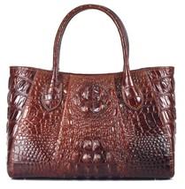 New Crocodile Embossed Italian Leather Handbag Satchel Tote Bag 2088 - $169.95