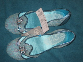 Disney Store Frozen Elsa Shoes for Girls Flats Embroidery Mesh Sequins 13 /1 New - $24.74
