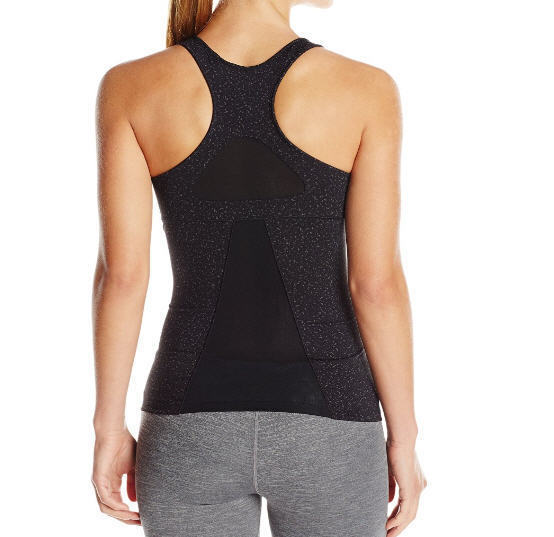 ASICS Women's Racerback Top, Black Speckle Print, Large - FAST FREE SHIPPING!