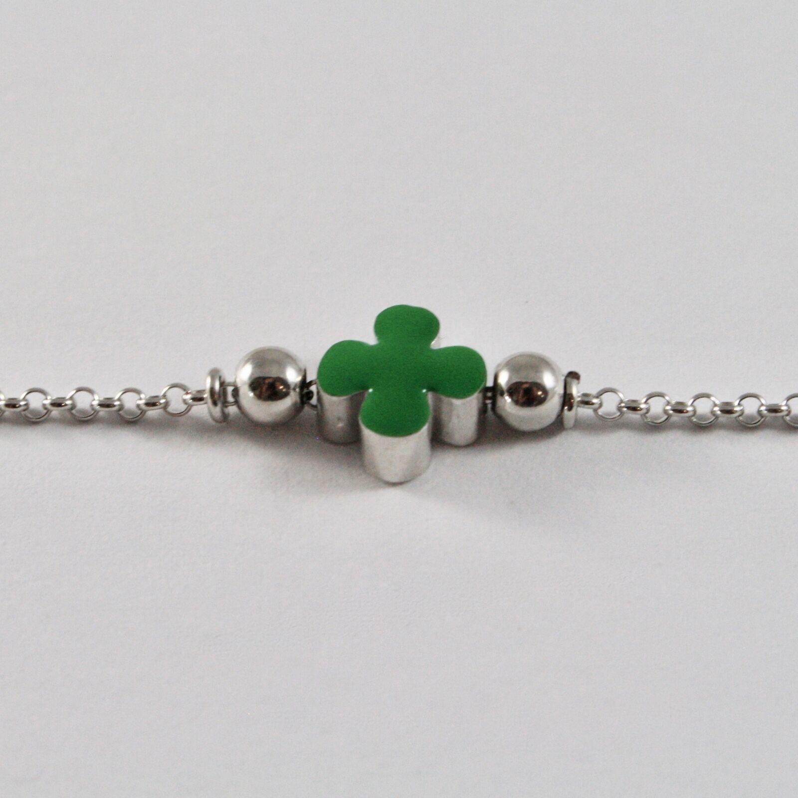 Bracelet en Argent 925 Jack&co Trèfle Porte- Fortuna Émaillé JCB0904 image 3