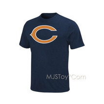 NWT Printed NFL #6 Jay Cutler Chicago Bear Men Navy  Blue T-Shirt Size L, S - $24.99