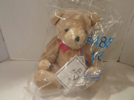 """VALENTINE RUSS BERRIE PLUSH BEAR 16"""" TAN FULLY JOINTED NEW  IN BAG - $3.87"""