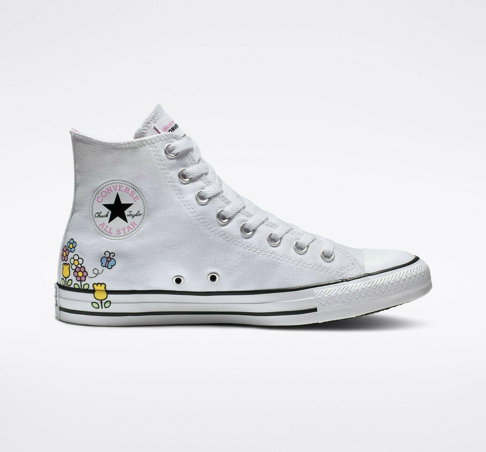Converse x Hello Kitty Chuck Taylor All Star High Top, 164629F Multi Sizes White
