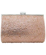 INC International Concepts Loryy Embellished Sparkle Clutch W/ Chain, Ro... - $25.15
