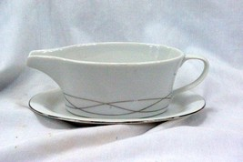 Wedgwood Platinum Twist Gravy Boat With Detached Underplate - $25.63