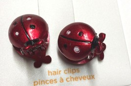 Gymboree Candy Apple Line Barrette Clip Snap Used Girl Dark Red Black White Dots - $8.95