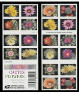 USPS One Book of 20 Cactus Flowers Stamps - $12.99