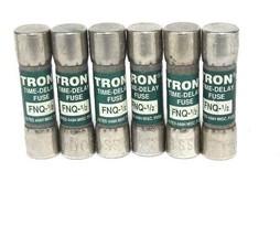 LOT OF 6 NEW COOPER BUSSMANN FNQ-1/2 TRON TIME-DELAY FUSES FNQ12