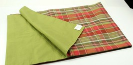 Pottery Barn Table Runner, Red and Green Plaid, 18 x 108 - $24.99
