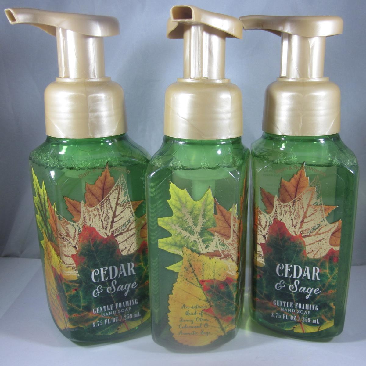 3  Bath & Body Works Gentle Foaming Hand Soap citrus cedarwood  Cedar & Sage - $69.99
