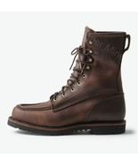 Handmade Leather Boots Mens Brown Derby Lace up Ankle Boots - $229.99+