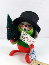 "Annalee Bambola 6 "" 7754 Caroller Mouse Deck The Halls 1993 - $19.81"