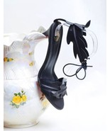 Black Leaf Design Sandal - $80.00