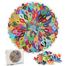 Puzzle Blooming Color 1000 Pieces Color Challenge Board Round Jigsaw Puzzle - $30.55