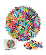 Puzzle Blooming Color 1000 Pieces Color Challenge Board Round Jigsaw Puzzle - $29.02
