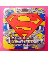 D.C.  Superman MAGIC TOWEL  New and  Sealed—More Fun Characters Avail Too! - $3.95