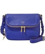 Fossil Blue Preston Leather Small Flap Crossbody/ Shoulder Bag - $135.00
