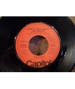 "TAVARES ""DON'T TAKE AWAY THE MUSIC"" NEAR MINT 45rpm CAPITOL 4348 RECORD - $3.00"