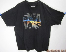 Vans 2XL Short Sleeve GRAPHIC-TEE Shirt Black Palm Trees Beach Skater Authentic - $0.89