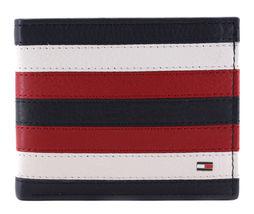 Tommy Hilfiger Men's Leather Wallet Passcase Billfold RFID Navy Red 31TL220104 image 4