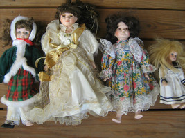 "[h6] (Lot of 4 Dolls) 16"" Porcelain - STUDIO 5 & Misc - $19.94"
