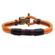 Antique Handmade Genuine Leather Bracelets Brand Anchor Punk Cuff Bracel... - $8.83