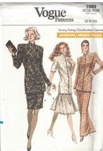 7080 sin Cortar Vogue Patrón de Costura Misses Entallado Underlined Túnica Falda - $9.96