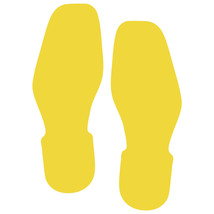 LiteMark Yellow Removable Bootprint Decal Stickers - Pack of 12 - $19.95
