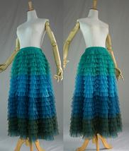Women Layered Tulle Skirt Wedding Skirt High Waist Party Prom A-line Tulle Skirt image 5