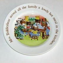 "Aynsley Teddleybears 7"" Plate 1983 Vintage Children's Dishes Teddy Bear Family - $7.48"