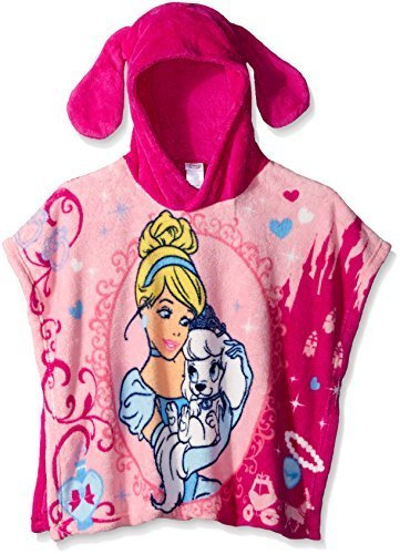Disney Little Girls' Palace Pets Cinderella and Pumpkin Plush Character Poncho,