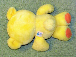 Vintage Playskool NOSY BEAR SURPRISE Yellow 1988 Plush Stuffed Animal Teddy Toy image 3