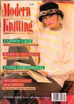 Modern Machine Knitting Feb 1993 Magazine Cable & Rib Mohair Daisy Chain... - $7.99