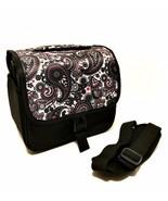 Camera Bag Black White Paisley Print Adjustable Shoulder Strap 9 inches ... - $26.72