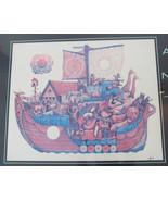 "Signed Amram Ebgi Title: ""Noah and the Ark "" Colored Lithograph Print Fr... - $499.99"