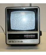"""NIB Vintage Zenith Portable Black & White Diagonal 5"""" TV AC/DC battery M... - $89.09"""