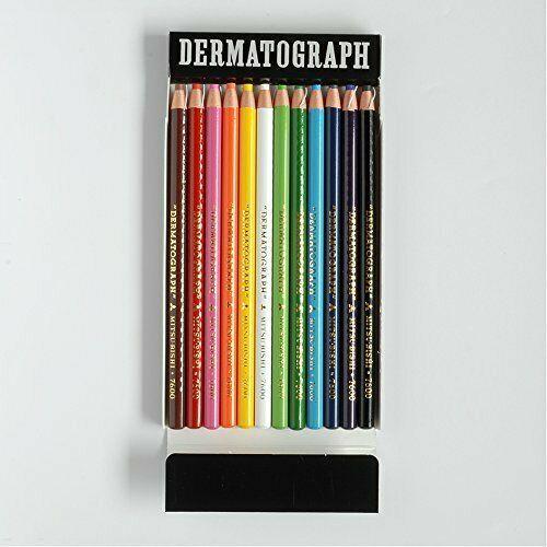 Mitsubishi Pencil DERMATOGRAPH 7600 12 color set K760012C JAPAN