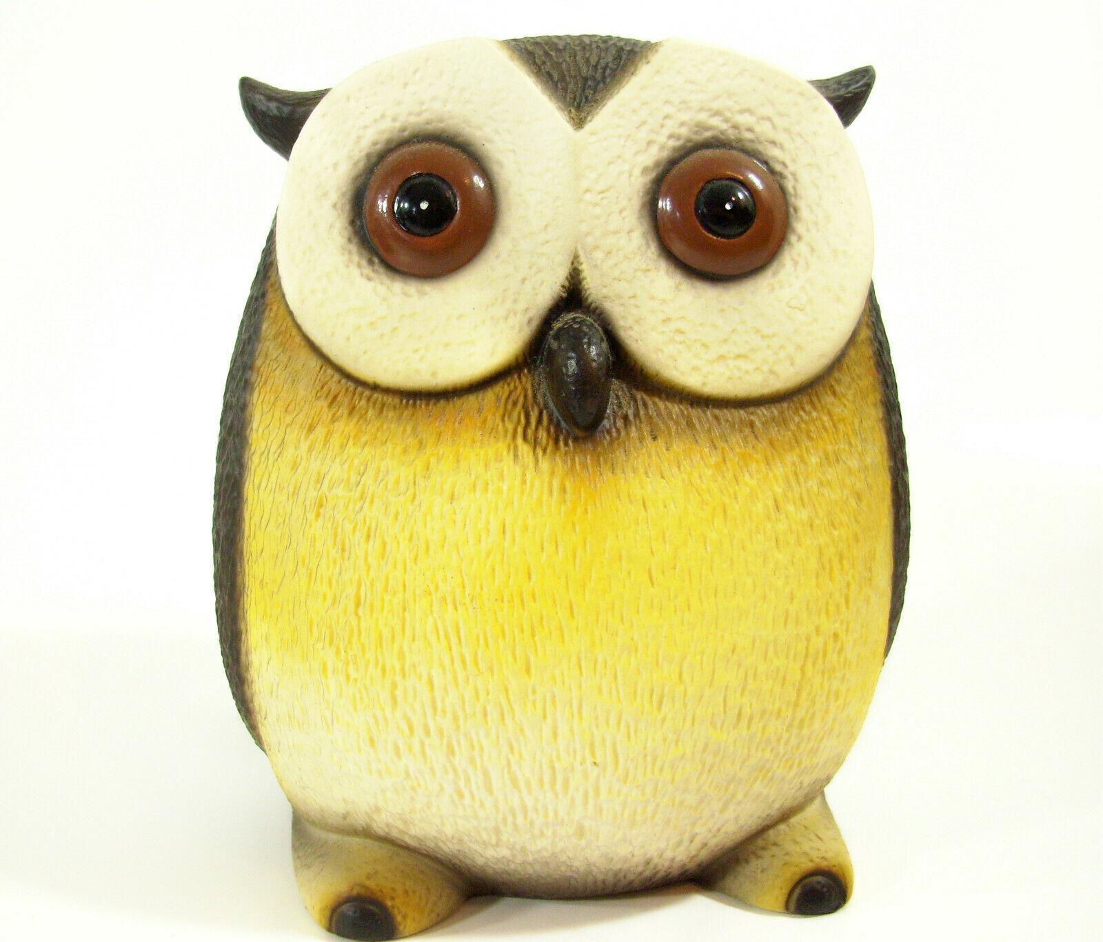 Harvey Knox Kingdom Owl Hand Painted Figurine Figure House Global Art Japan