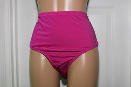 NEW Kenneth Cole Plus 1X Ruffle Shuffle Solid Hi Waisted Bikini Bottom IRS - $15.80