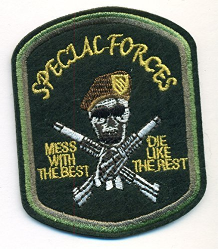 Special Forces Gold White Brown and Black Patch 2 3/4 x 3 1/2 inch