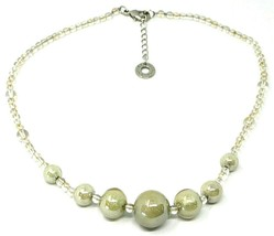 Necklace Antica Murrina Venezia, CO973A02, Spheres Gray Beige, 45 CM image 1
