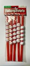 Amscan Holiday Favors Party Straws Red Santa 5 Straws  - $7.99