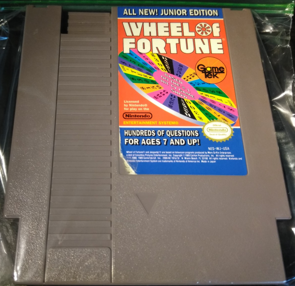 Wheel of Fortune Junior Edition Nintendo Nes Tested Works Great