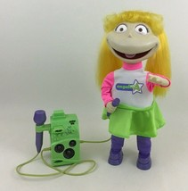 "Rugrats Angelica Sing n Swing Karaoke 14"" Doll with Microphone Viacom 20... - $35.59"