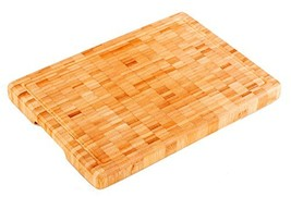 "Premium Large and Thick [14"" x 10"" x 1.25""] Organic Bamboo Butcher Block... - $12.74"
